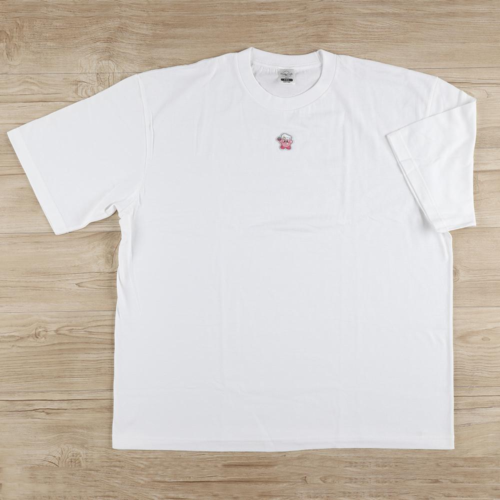 オーバーサイズ刺繍Tシャツ カービィ ホワイト (Men's Free)